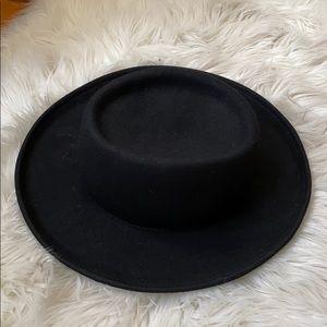 Vintage Black Wool Felt Hat